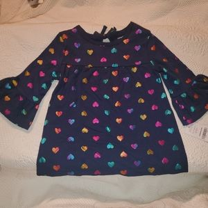 Carters 4t Heart Bell Sleeve Top